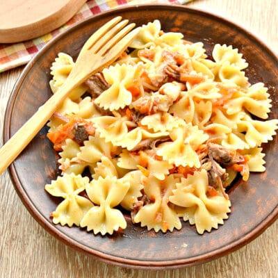 Быстрый ужин на сковороде - рецепт с фото