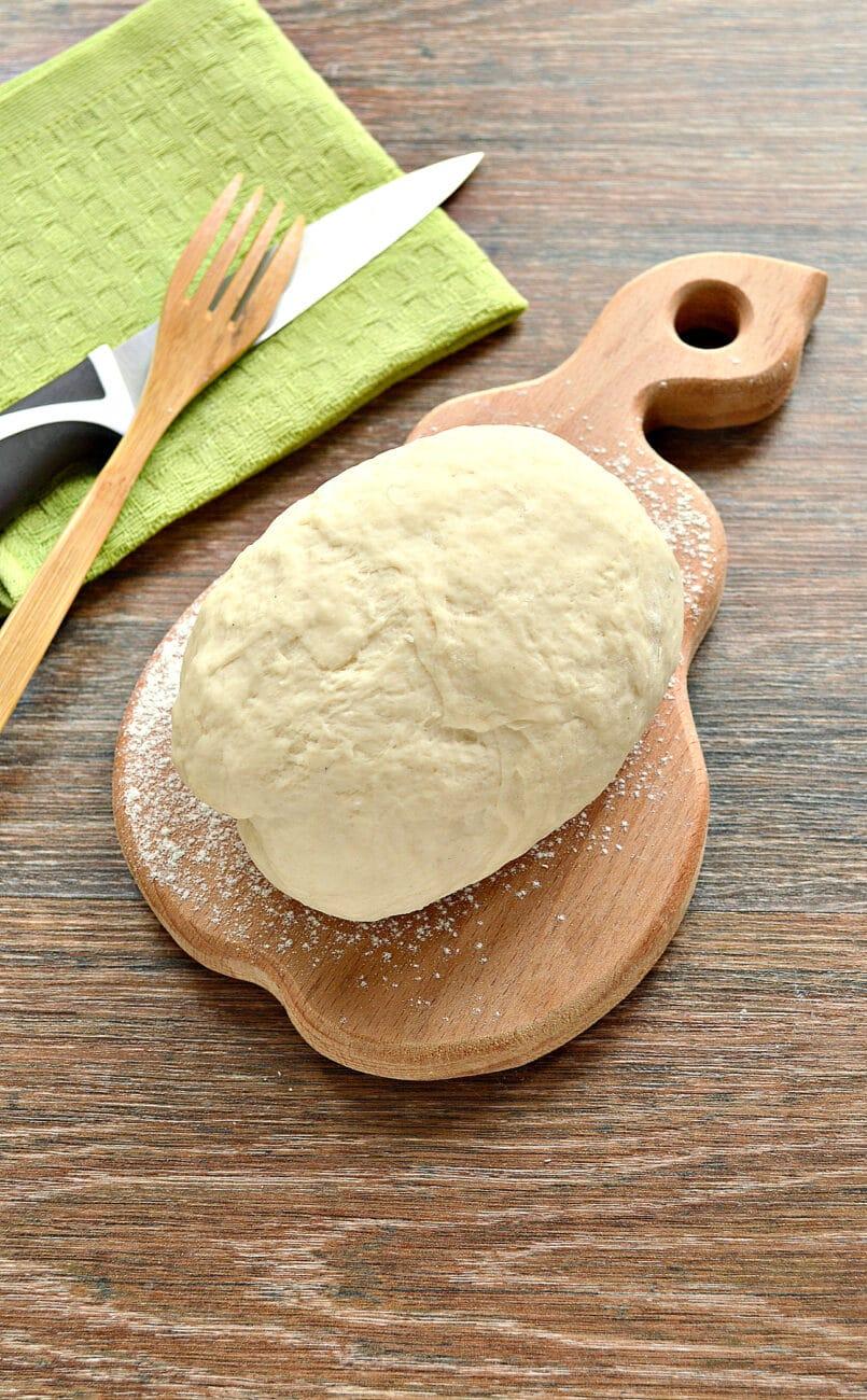 Тесто для вареников на молоке (с уксусом)