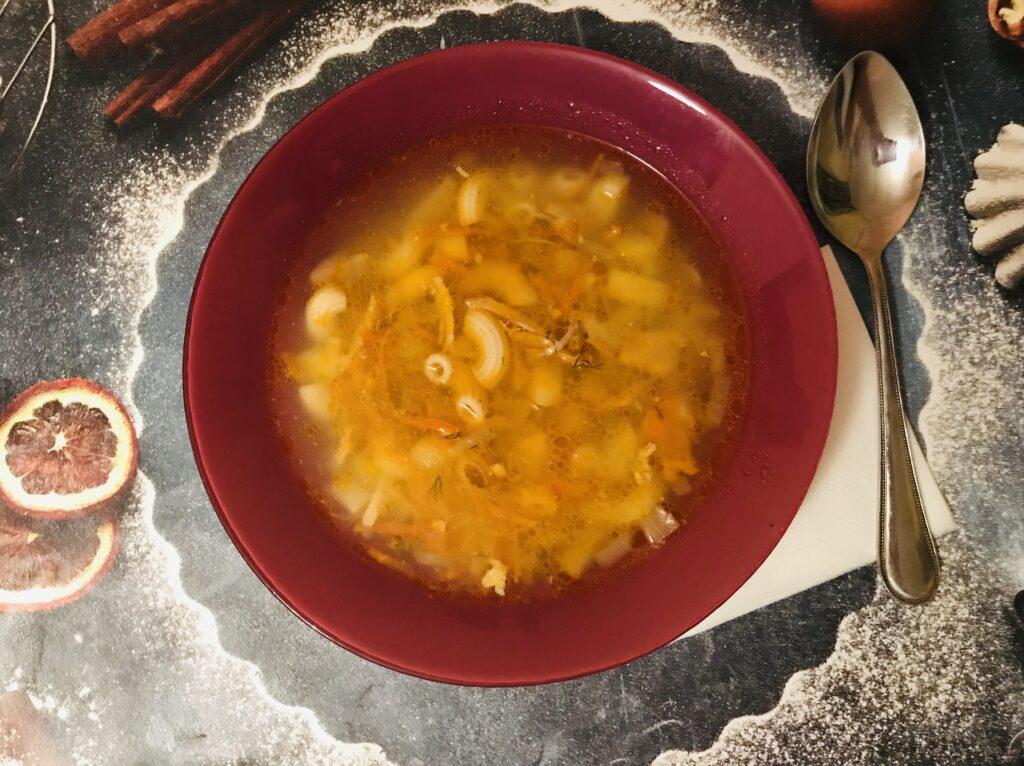 Фото рецепта - Суп из домашней курицы с макаронами - шаг 7