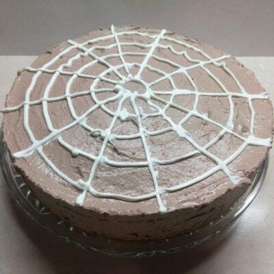 Шоколадный чизкейк с паутинкой (без выпечки) - рецепт с фото