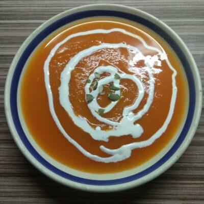 Тыквенный суп-пюре (постный) - рецепт с фото