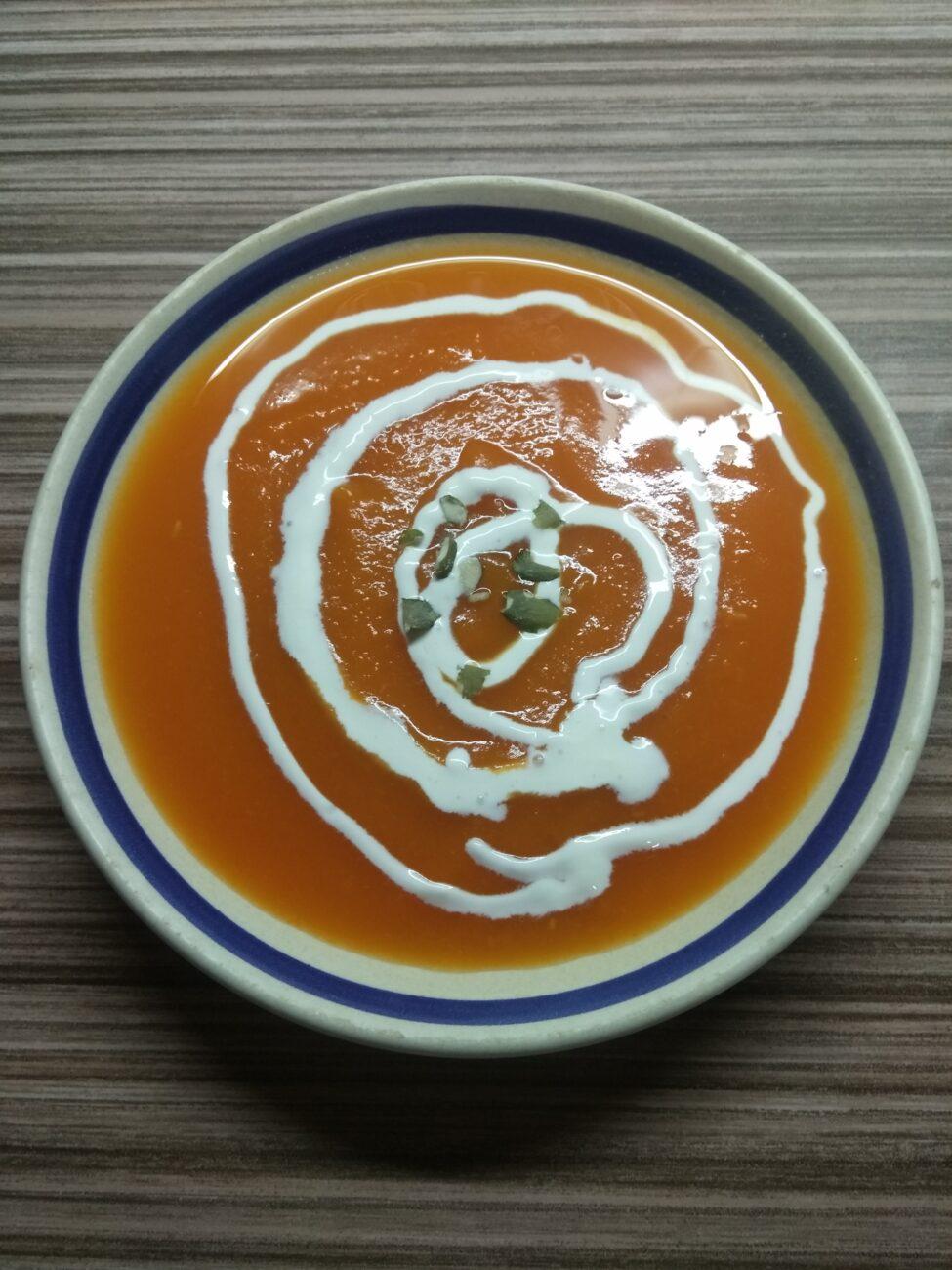 Тыквенный суп-пюре (постный)