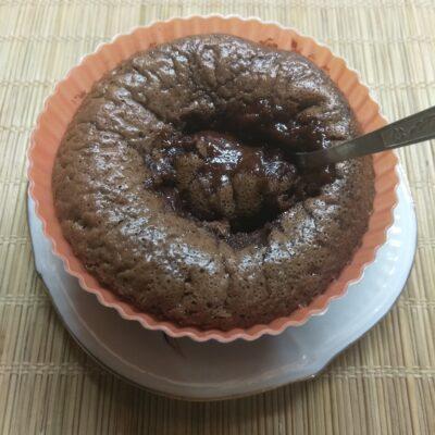 Шоколадный фондан (кекс с жидкой начинкой) - рецепт с фото