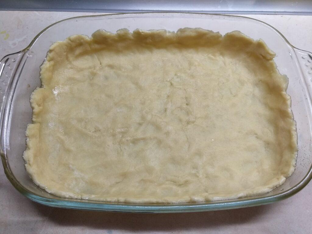 Фото рецепта - Киш с салями, кабачками и болгарским перцем - шаг 4