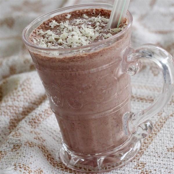 Шоколадно-персиковый смузи