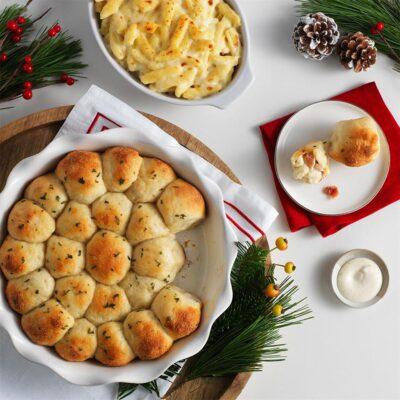 Пампушки с сыром и беконом - рецепт с фото