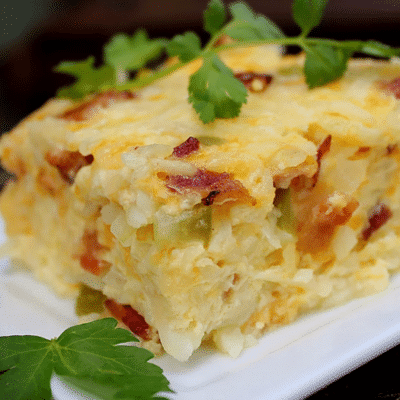 Яичная запеканка с картофелем на завтрак - рецепт с фото