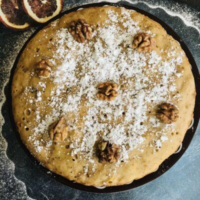 Мандариновый кекс с орехами в мультиварке - рецепт с фото
