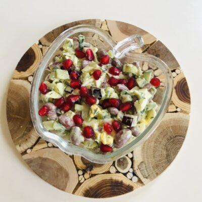 Овощной салат с гранатом - рецепт с фото