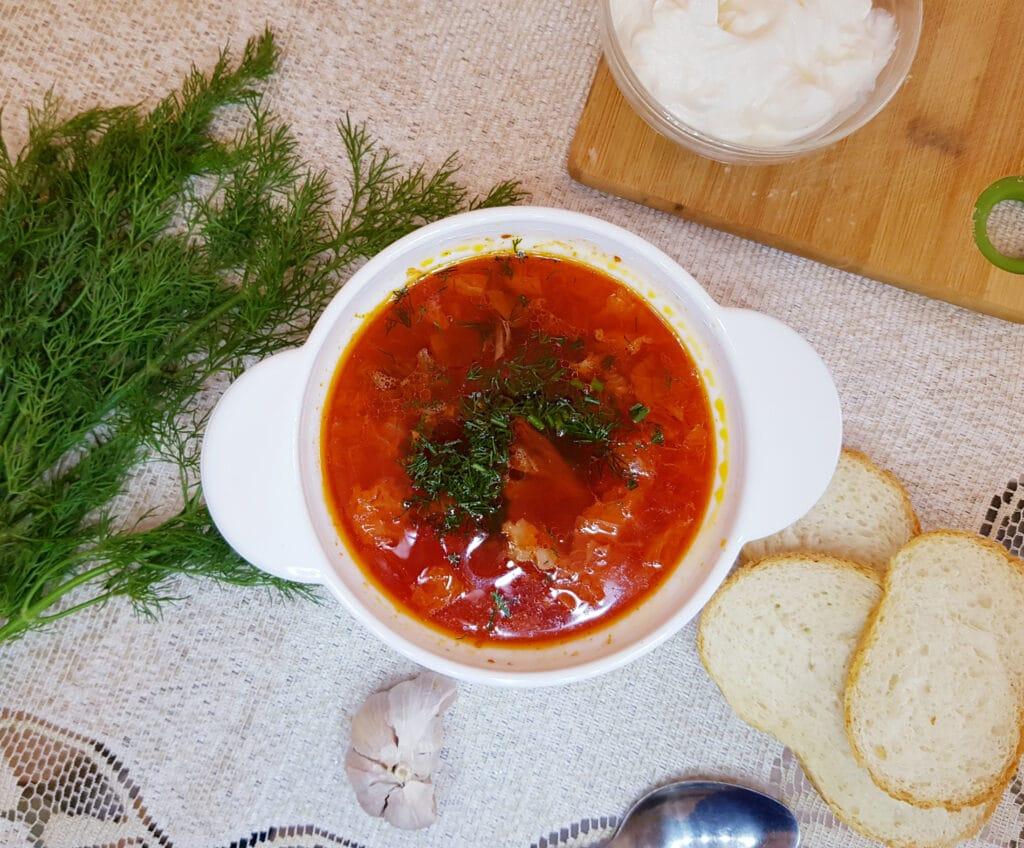 Фото рецепта - Борщ без заморочек на мясном бульоне - шаг 10