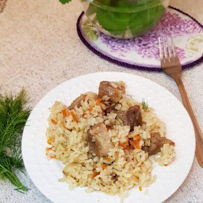 Плов из свинины на сковороде - рецепт с фото