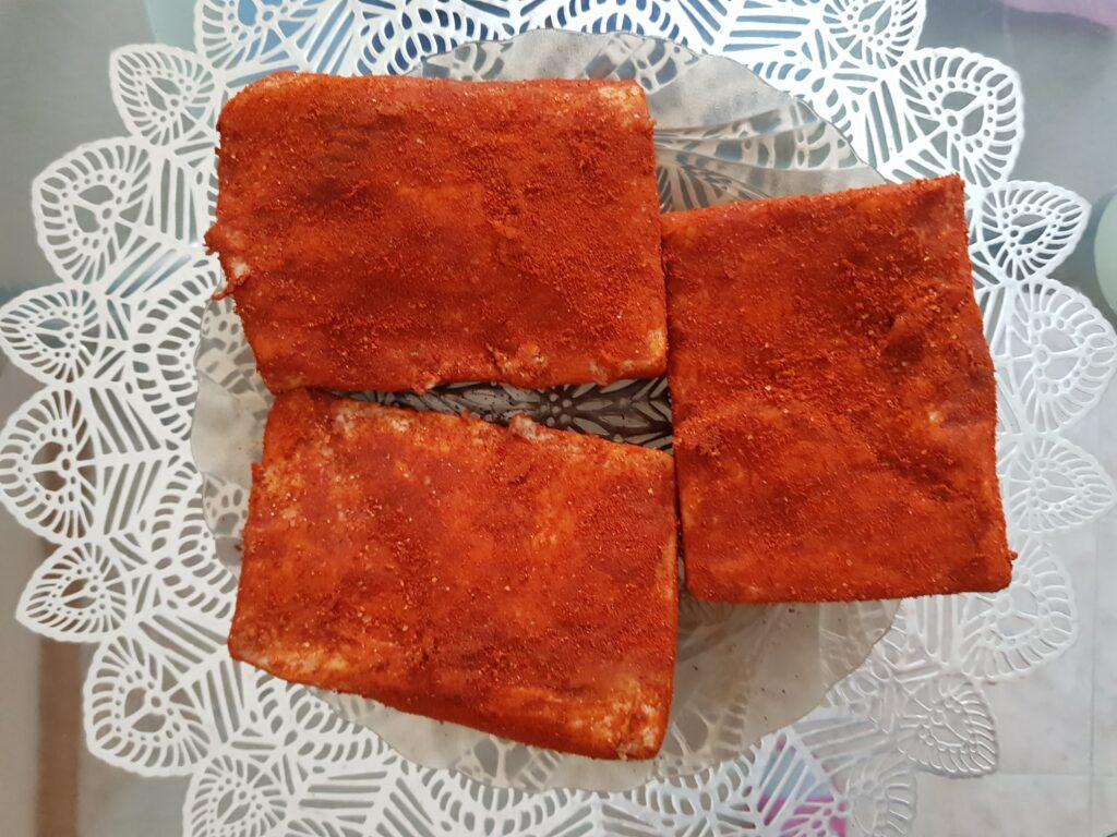 Фото рецепта - Сало с паприкой, засоленное сухим способом - шаг 7
