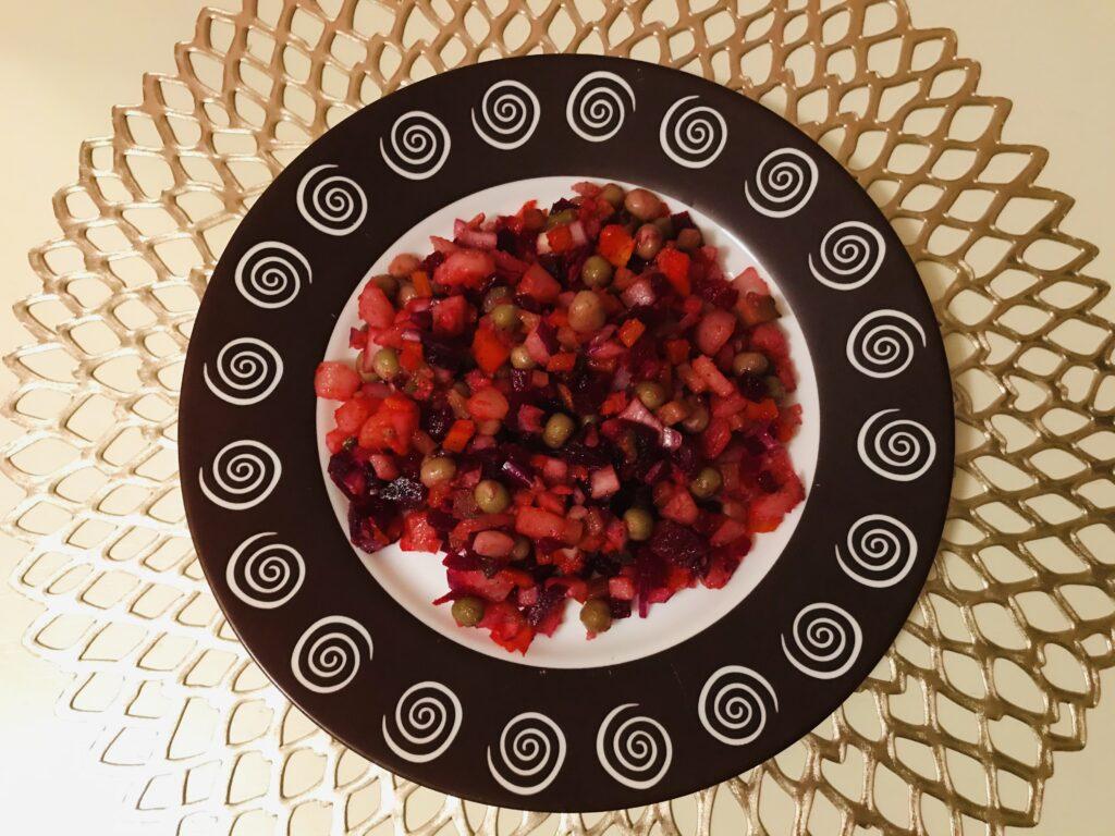 Фото рецепта - Винегрет с зеленым горошком - шаг 6