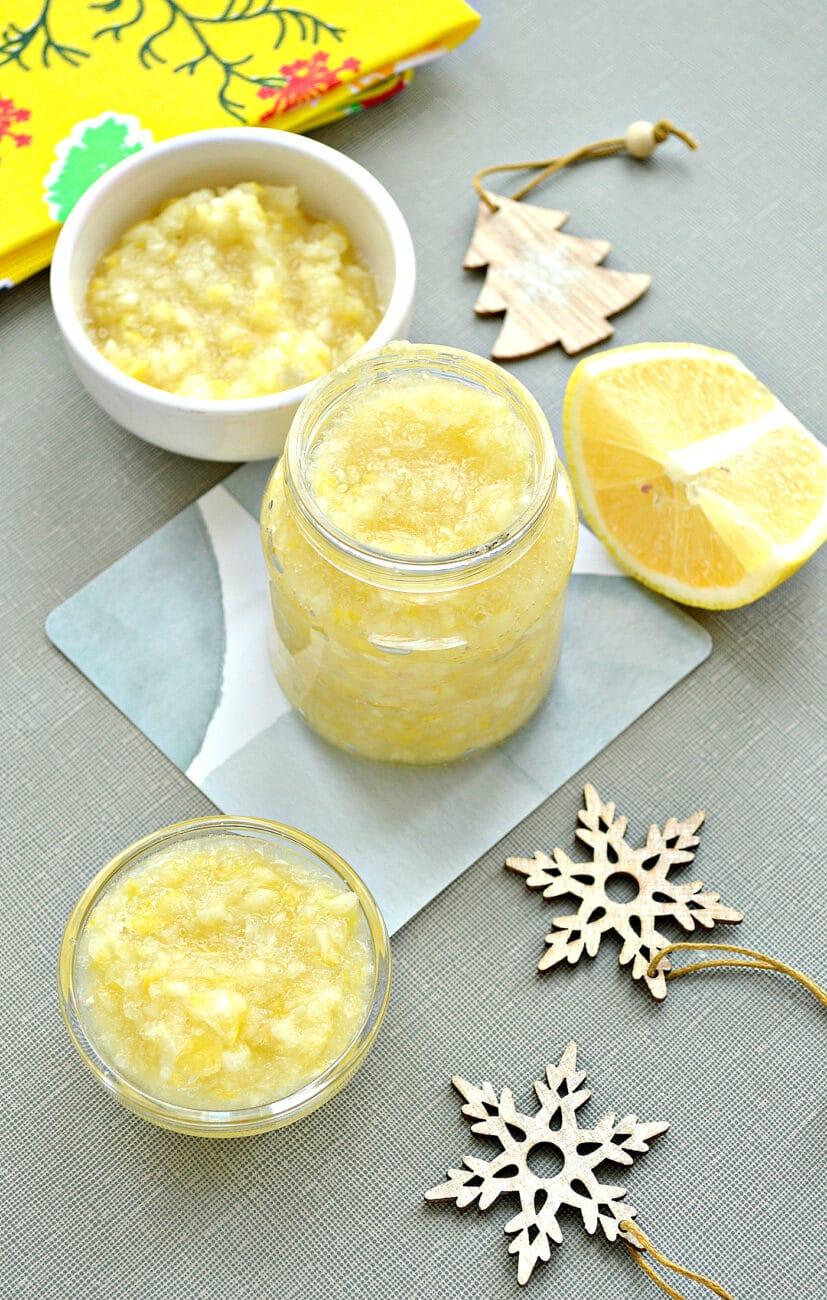 Лимоны, протертые с сахаром, на зиму