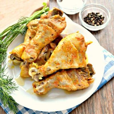 Куриные голени, запеченные в майонезе в мультиварке - рецепт с фото