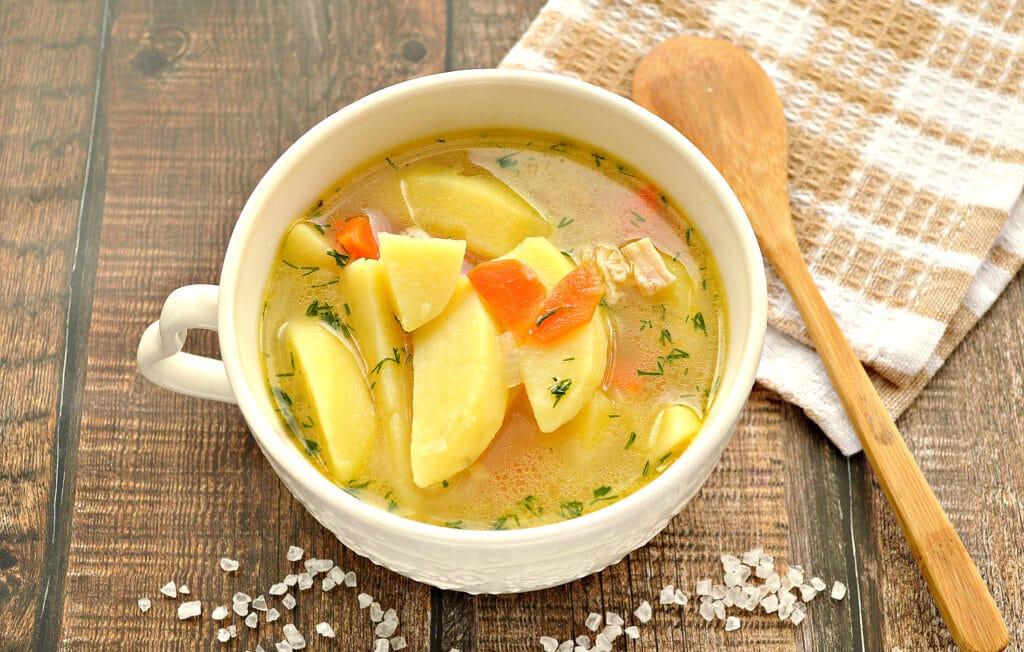 Фото рецепта - Картофельная похлебка с курицей - шаг 7