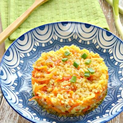 Рис с овощами в мультиварке за 30 минут - рецепт с фото