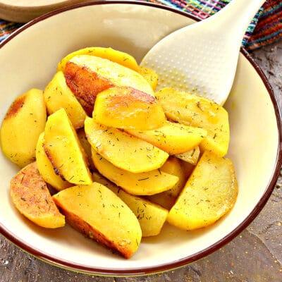 Запеченный в майонезе картофель в мультиварке - рецепт с фото
