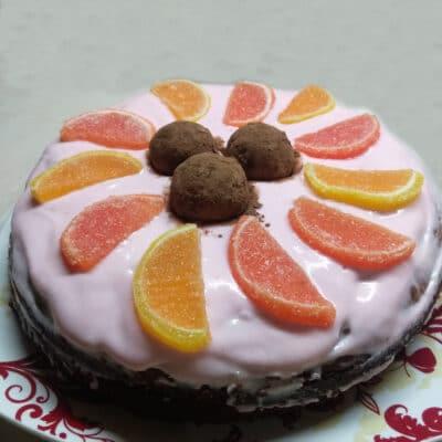 Быстрый торт из покупных бисквитов - рецепт с фото