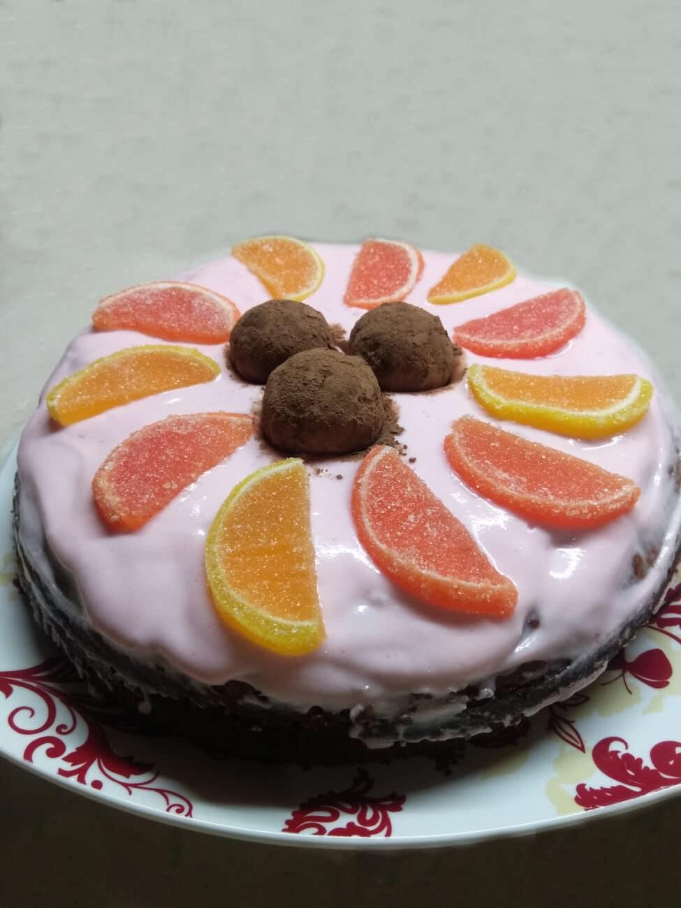 Быстрый торт из покупных бисквитов