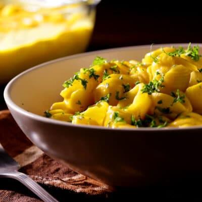 Макароны с кабачковым пюре - рецепт с фото