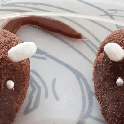 """Пирожное из печенья """"Мышки"""" - рецепт с фото"""
