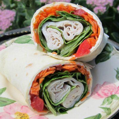Лепешки с индейкой и овощами - рецепт с фото