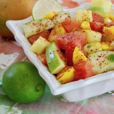 Острый фруктовый салат - рецепт с фото