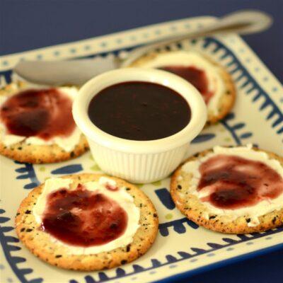 Малиновый острый соус - рецепт с фото