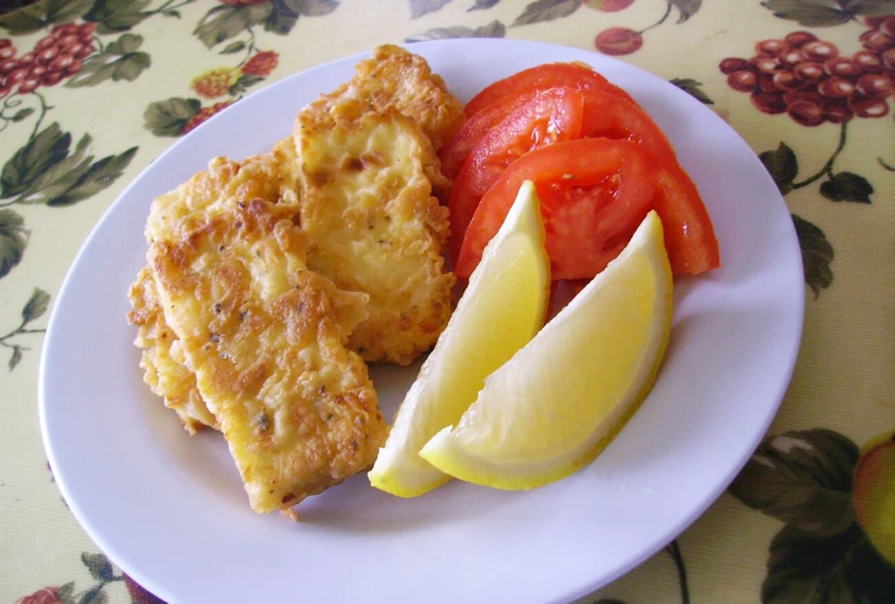 Жареный сыр на сковороде