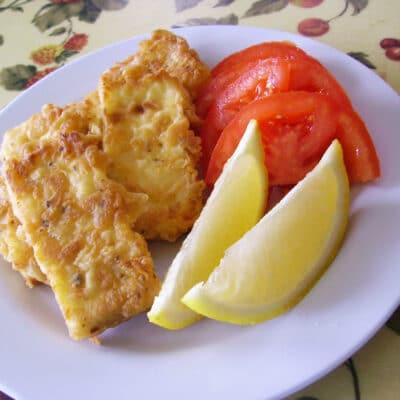 Жареный сыр на сковороде - рецепт с фото