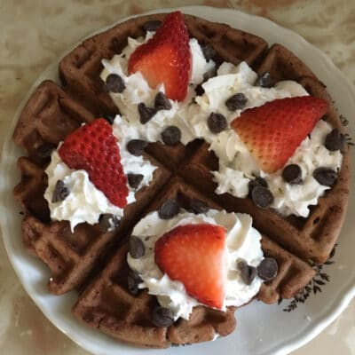 Шоколадные вафли на белках - рецепт с фото
