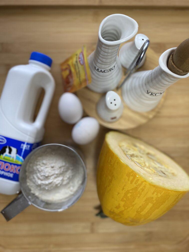 Фото рецепта - Блины из кабачков на молоке - шаг 1