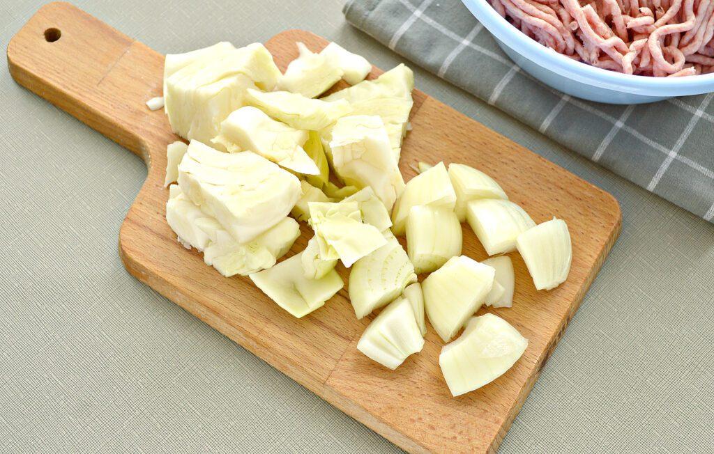 Фото рецепта - Начинка для мантов со свининой и капустой - шаг 2
