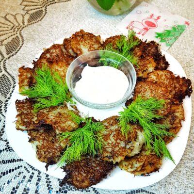 Картофельные оладьи - рецепт с фото