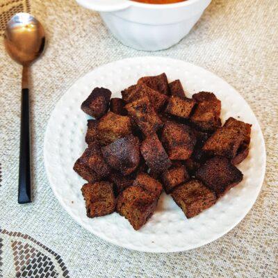 Сухарики из бородинского хлеба - рецепт с фото