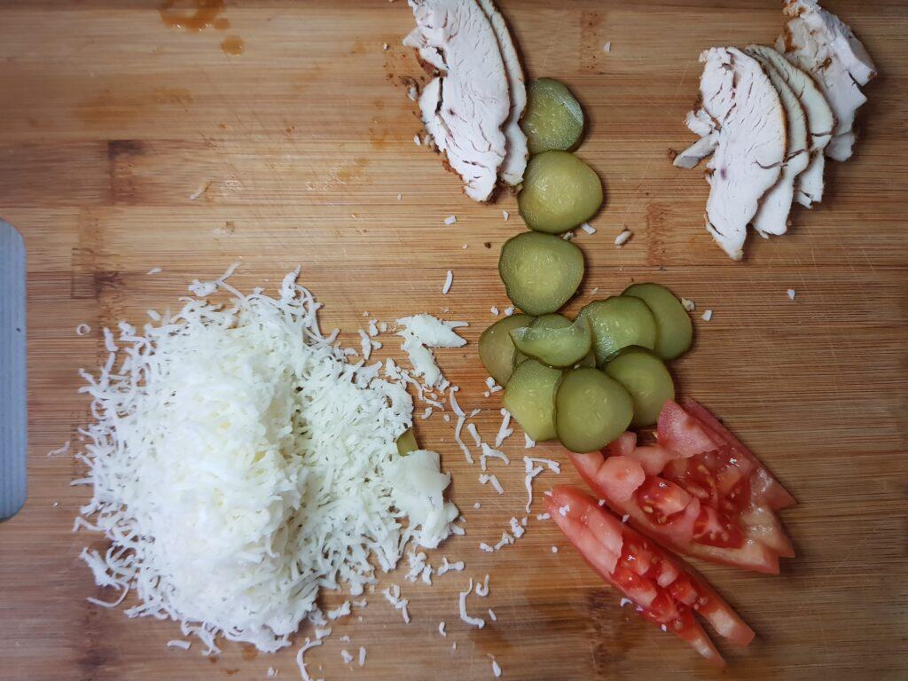 Фото рецепта - Овсяноблин с индейкой и овощами - шаг 3
