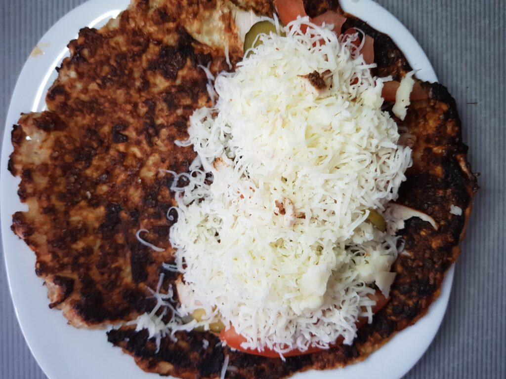 Фото рецепта - Овсяноблин с индейкой и овощами - шаг 4