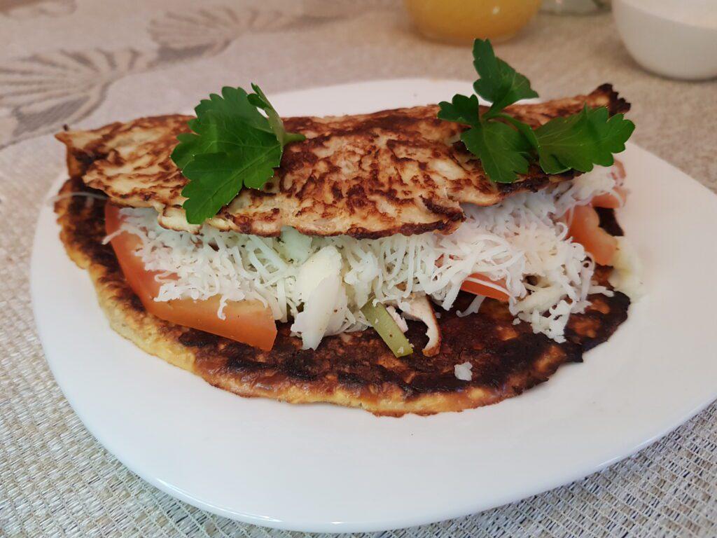 Фото рецепта - Овсяноблин с индейкой и овощами - шаг 5