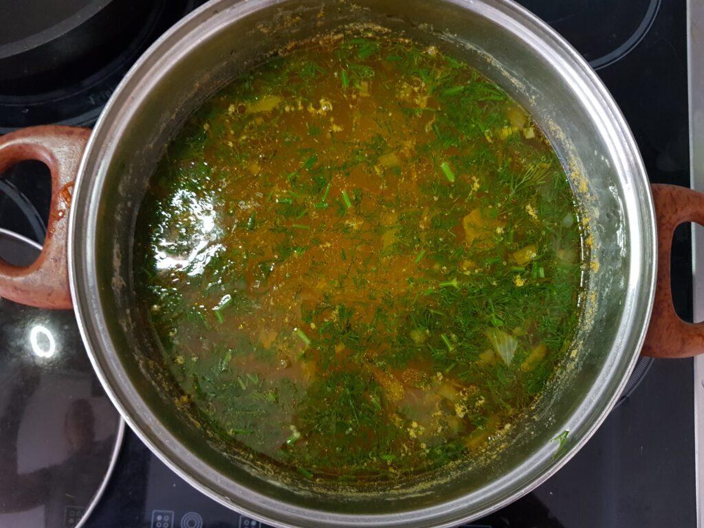Фото рецепта - Картофельный суп с куриными фрикадельками - шаг 7