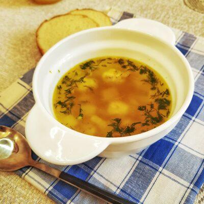 Картофельный суп с куриными фрикадельками - рецепт с фото