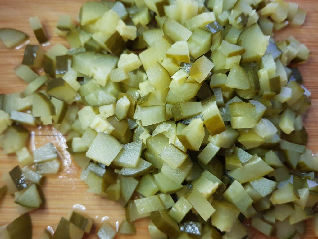 Фото рецепта - Винегрет с фасолью и маринованными огурцами - шаг 4