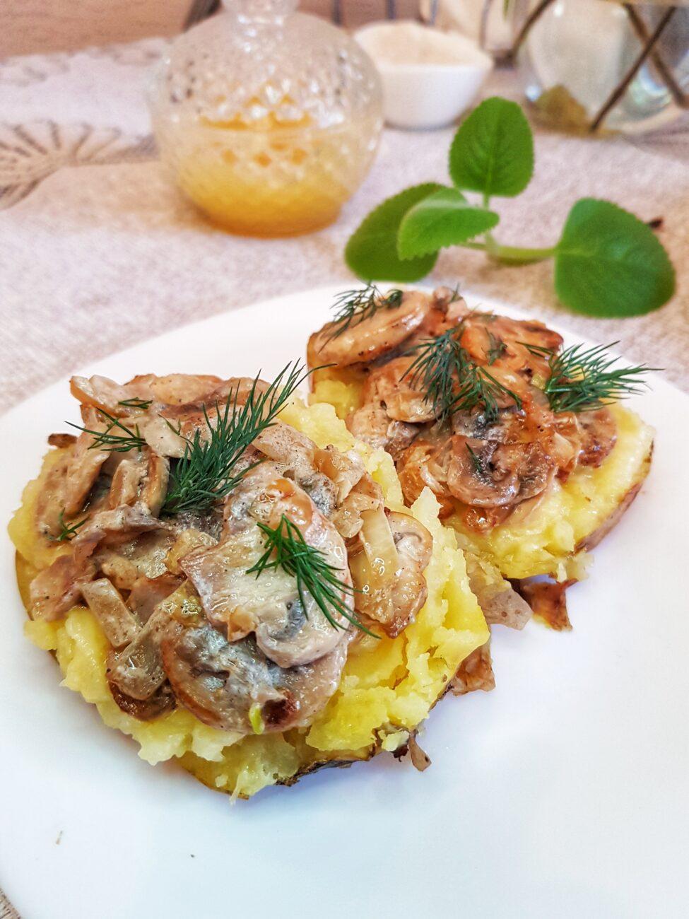 Крошка-картошка с грибной начинкой