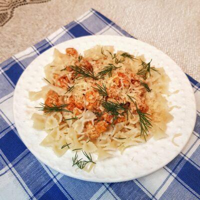 Паста фарфаллине с куриным фаршем и сыром - рецепт с фото