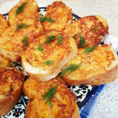 Бутерброды с припёком на сковороде - рецепт с фото