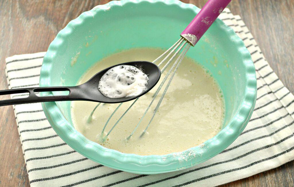 Фото рецепта - Заварные блинчики на топлёном молоке - шаг 4