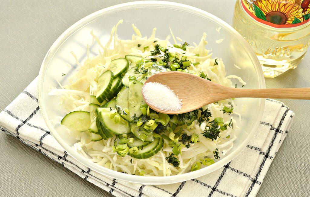 Фото рецепта - Капустный салат с уксусом - шаг 4