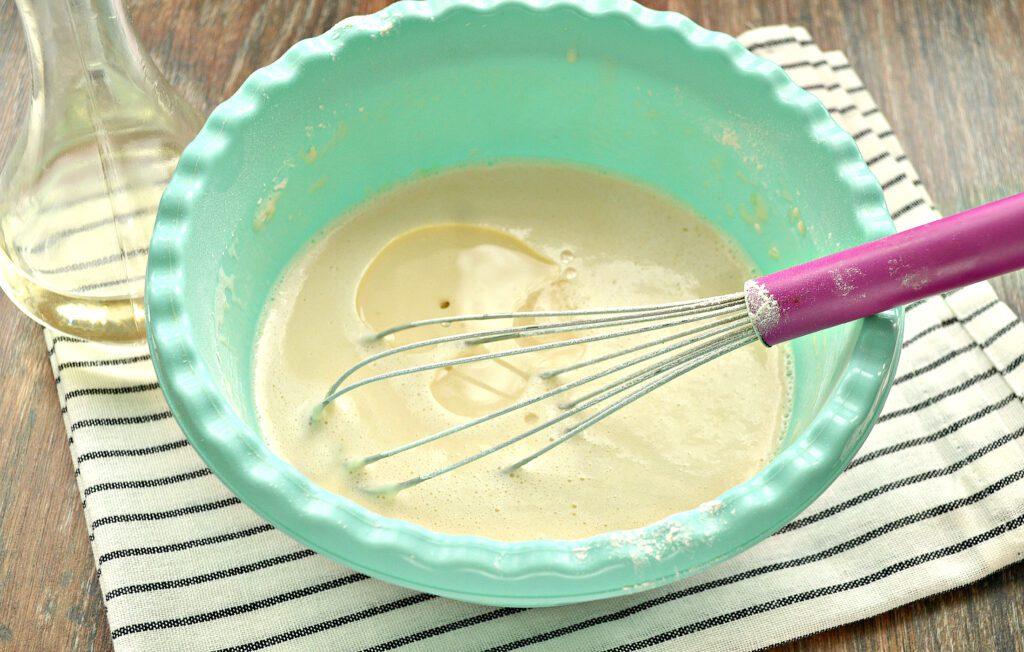 Фото рецепта - Заварные блинчики на топлёном молоке - шаг 5