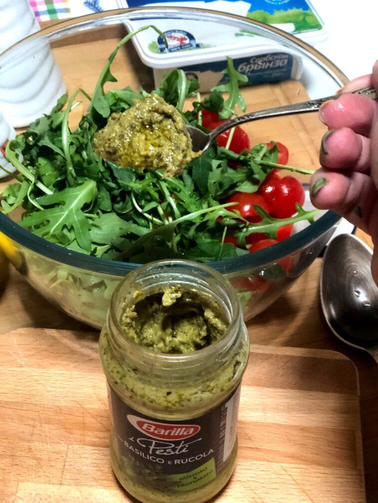 Фото рецепта - Диетический салат с печёной тыквой - шаг 8