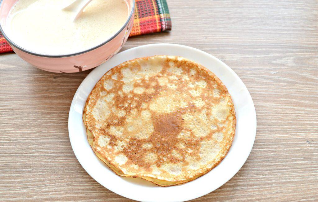 Фото рецепта - Тесто для ажурных блинчиков на кипятке - шаг 8